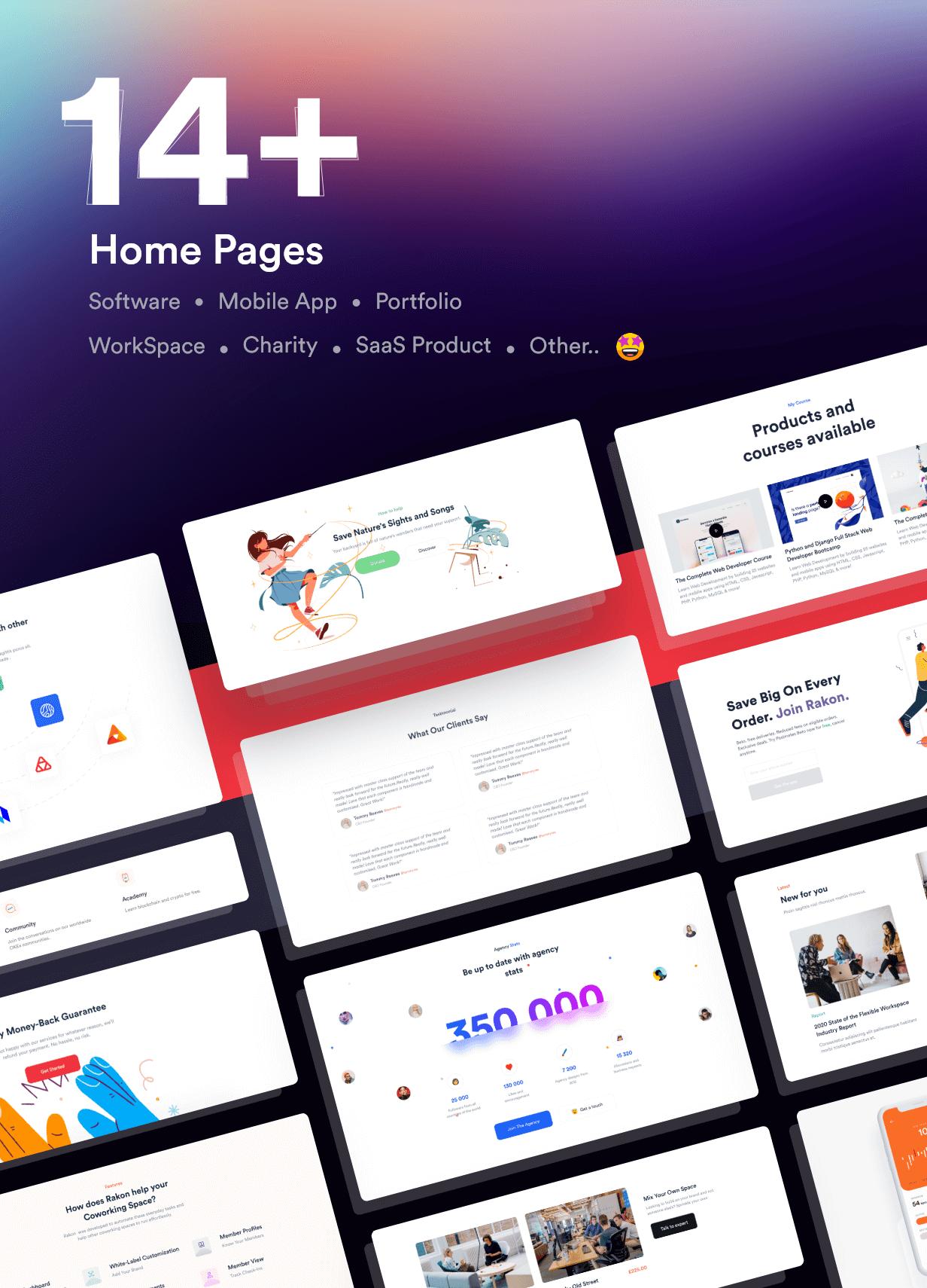 Rakon - Creative Multi-Purpose Landing Page HTML5 Template (RTL Supported) - 4